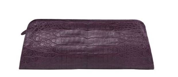 Zelli Kate Crocodile Clutch