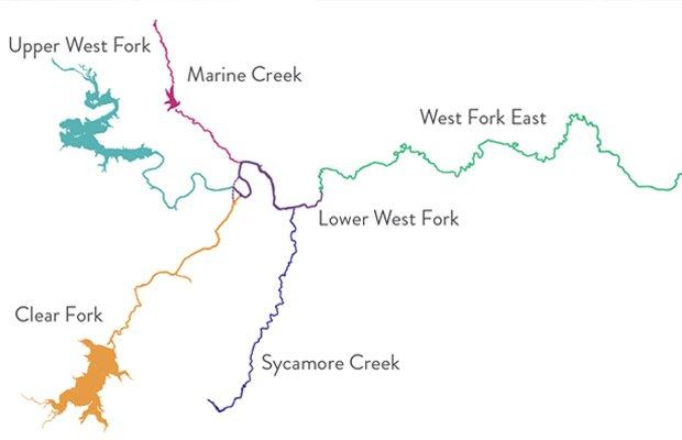 Trinity River Segments