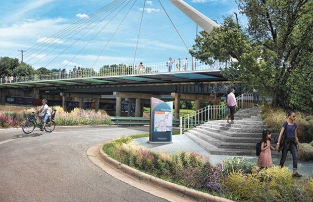 University Drive Trail Bridge Render