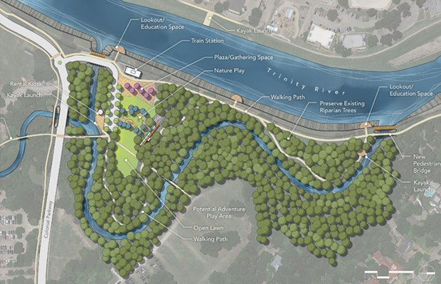 Zoo Trail Connection plus Oxbow Kayak Loop Map