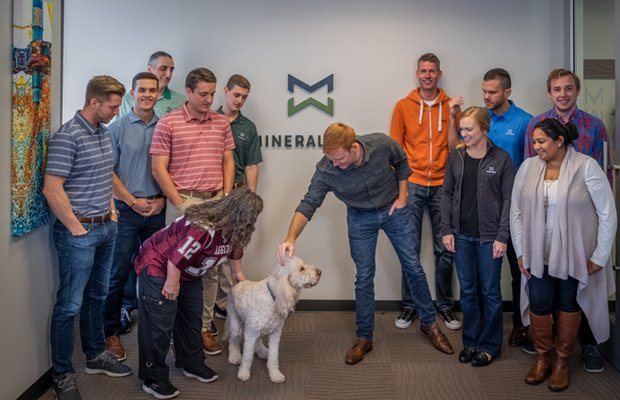 MineralWare Employees with Dog