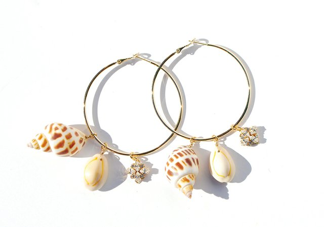 5. Shell Hoop Earrings
