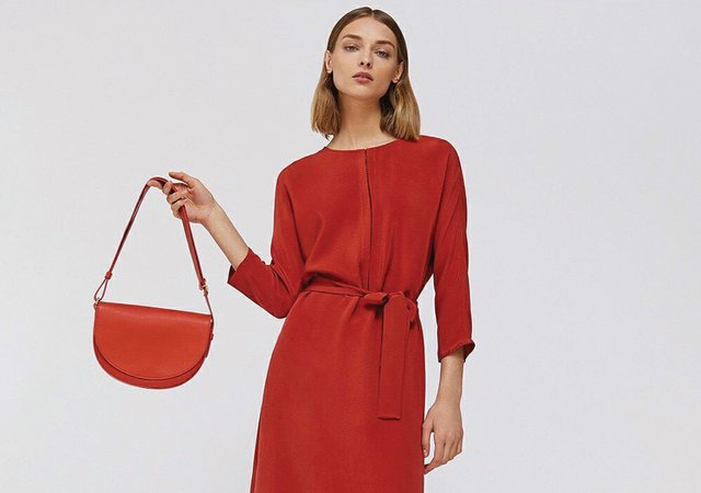 3. Red Silk Dress