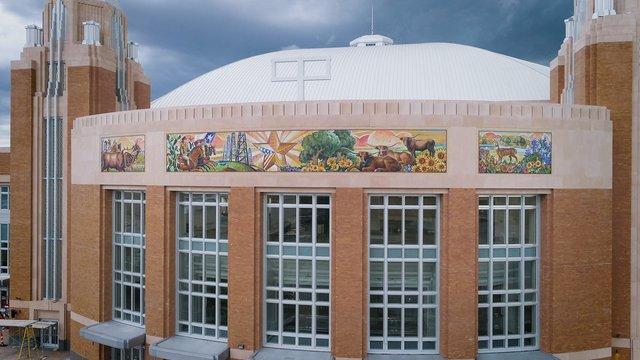 Dickies Arena Murals