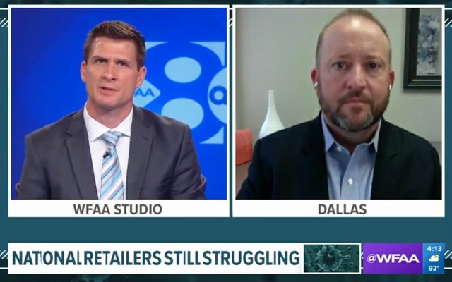 Reed Allmand on WFAA discussing Struggling Retailers