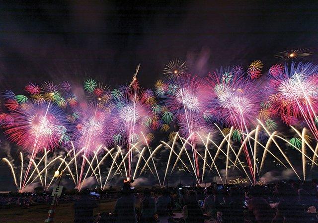 Nagaoka Fireworks Festival in Nagaoka City, Niigata Prefecture i