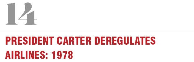 14: President Carter Deregulates Airlines, 1978