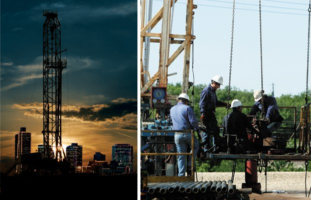 Natural Gas Drilling Collage