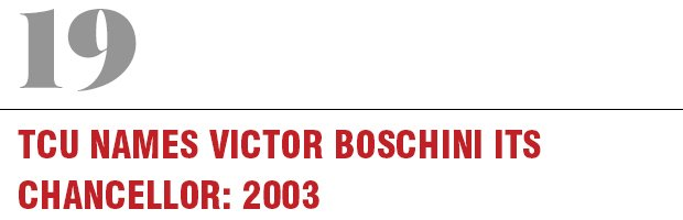 19: TCU Names Victor Boschini its Chancellor, 2003