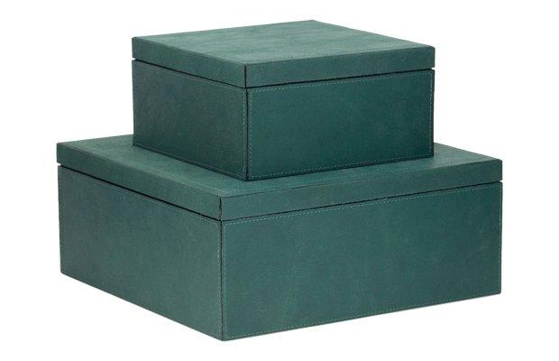 Teal Vintage Suede Box Set